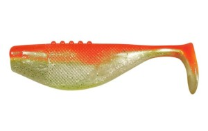 Guma Ripper DRAGON Fatty PRO 8,5cm PEARL/ORANGE silver glitter