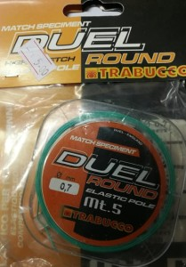 Guma TRABUCCO DUEL ROUND 5m 0,7mm Elastic Pole Match Speciment