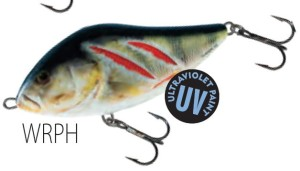 Wobler Salmo SLIDER WOUNDED REAL PERCH UV 7cm 21g tonący