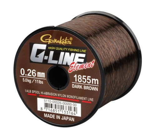 Żyłka G-Line Element Dark Brown 0,26mm 5,0kg 1855m spool