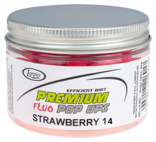 Kulki proteinowe Lorpio POP-UPS STRAWBERRY truskawkaFLUO 14mm